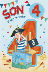Son Age 4 Birthday Card
